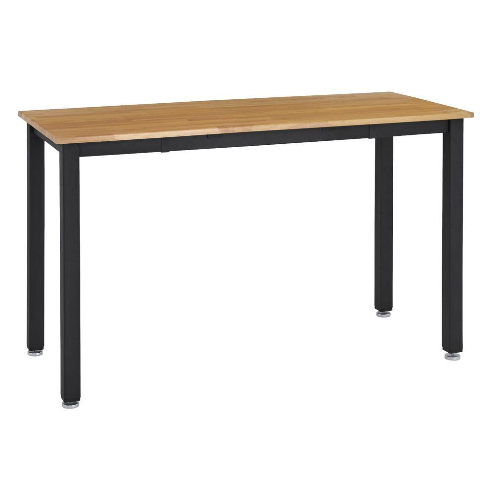 null 4.5 ft. Sealed Hardwood Top Workbench