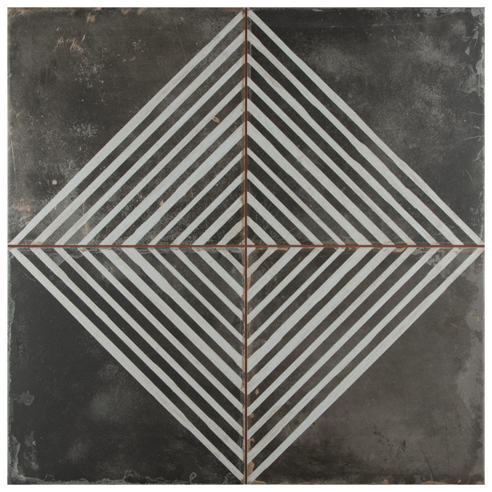 Kings Rombos 17-5/8 in. x 17-5/8 in. Ceramic F/W Tile