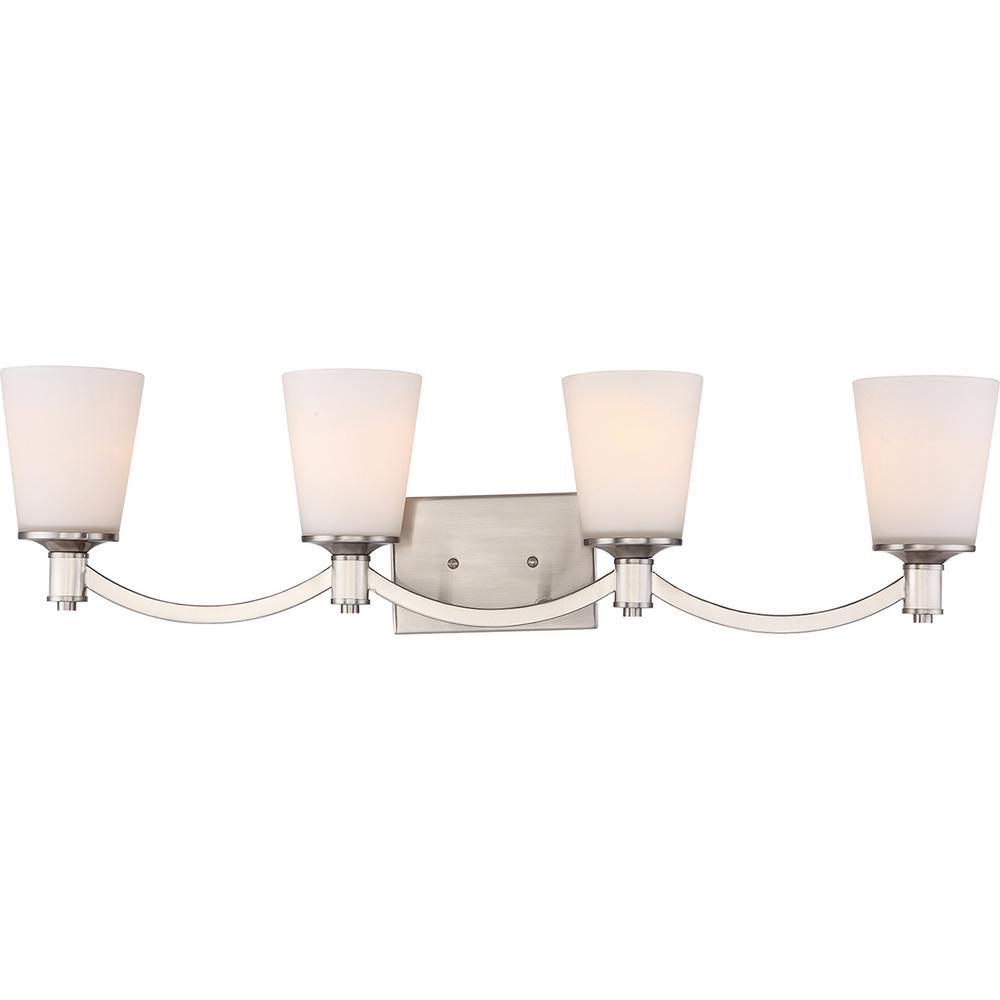 Filament Design 4-Light Brushed Nickel Bath Light