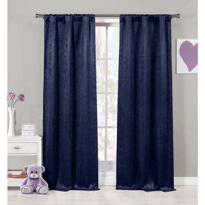 Quincy 37 in. W x 84 in. L Polyester Window Panel in Grey (2-Pack)