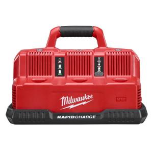 Milwaukee M12 and M18 12-Volt/18-Volt LIthium-ion Multi-Voltage 6-Port Sequential Rapid Battery Charger (3 M12 and 3 M18... by Milwaukee