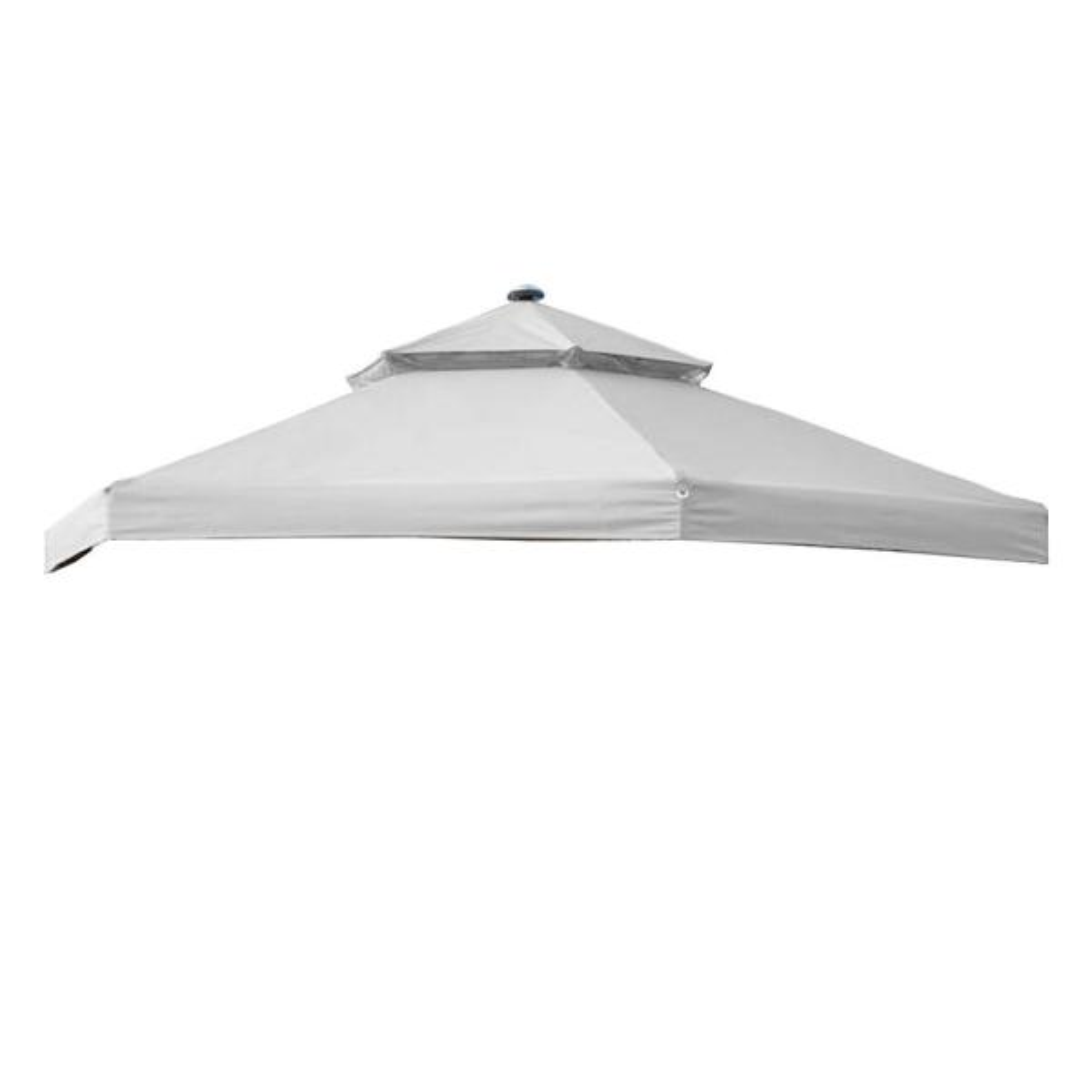 RipLock 350 Slate Gray Replacement Canopy for 10 ft. x 10 ft. Solar Hexagon Gazebo