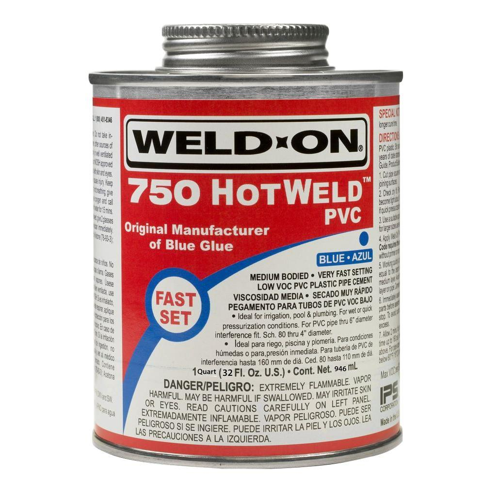 32 oz. PVC 750 HotWeld Cement in Blue