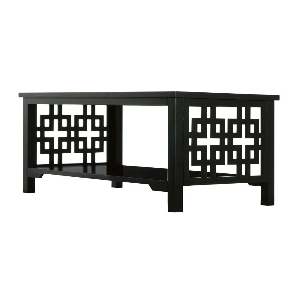 Home Decorators Collection Knot Black Coffee Table