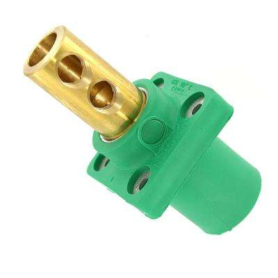400 Amp 16 Series Taper Nose Male Panel Receptacle 90° Cam-Type, 90 Degree, Yellow