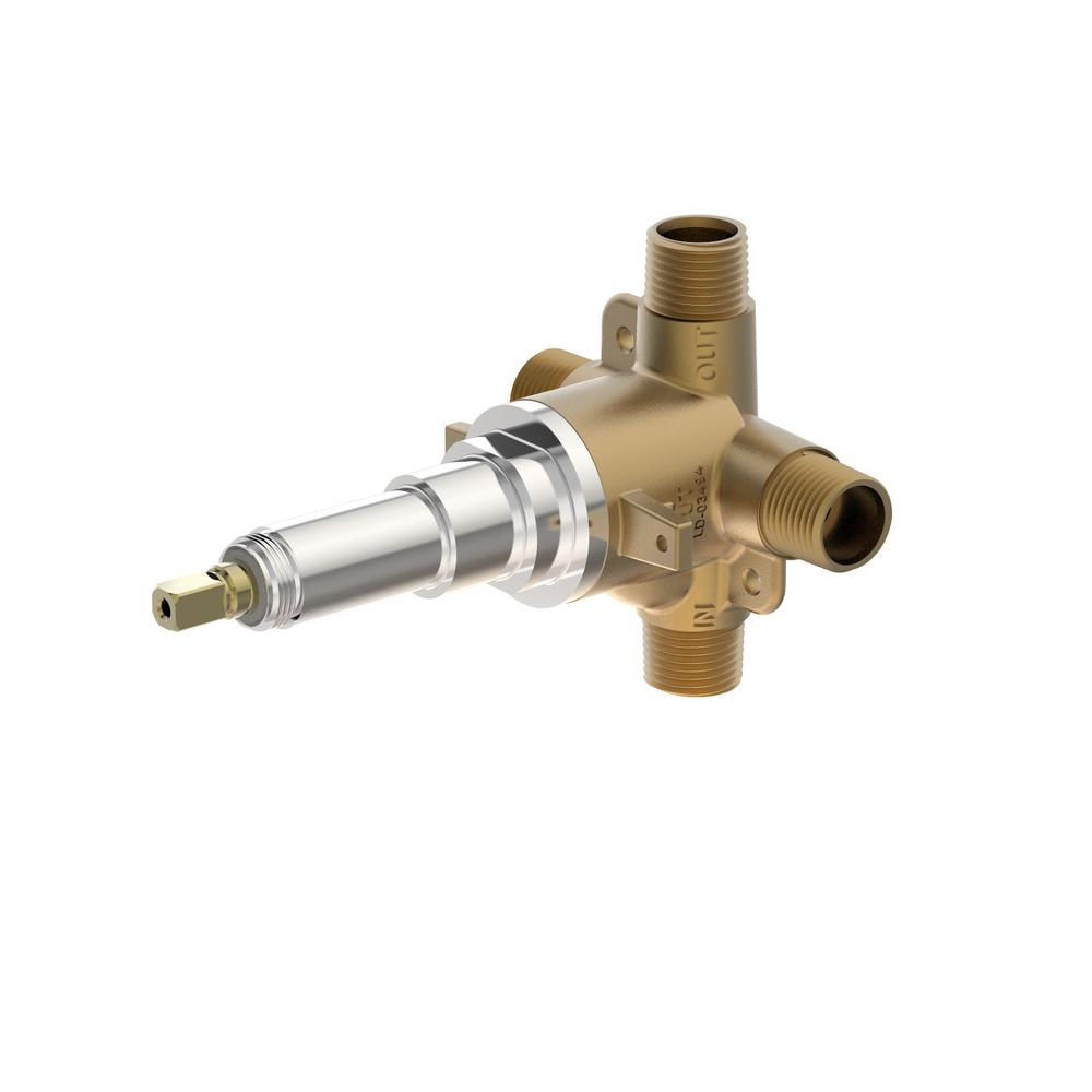 Symmons 1/2 in. Triple Outlet Diverter Valve-3DIV-BODY-NS - The ...
