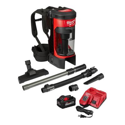 M18 Fuel 18-Volt Lithium-Ion Brushless Cordless 1 Gal. 3-in-1 Backpack Vacuum Kit and One 8.0 Ah Battery and Accessories