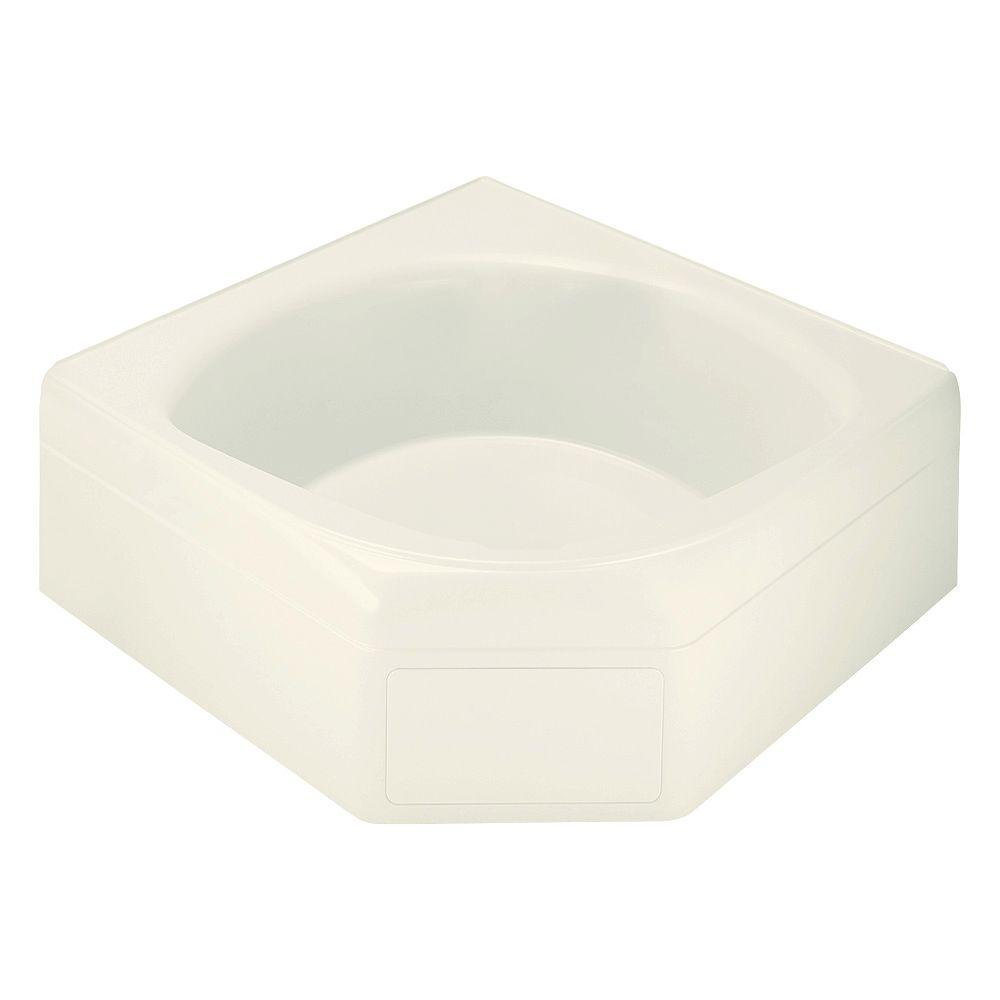 STERLING Ensemble 5 ft. Center Drain Corner Alcove Soaking Tub in Biscuit