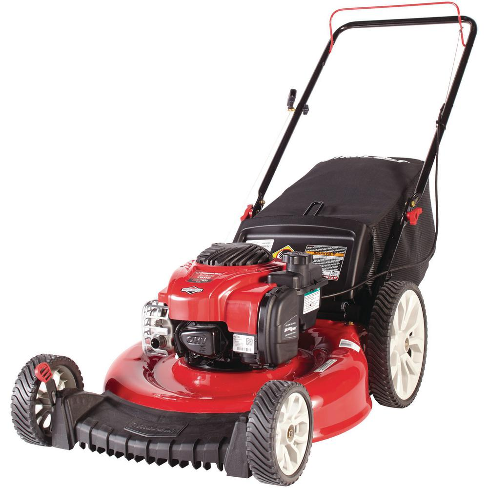 Troy Bilt 21 In 140 Cc 550ex Series Briggs Stratton Gas Walk Behind Push Mower With 2 In 1 Cutting Triaction Cutting System Tb110 The Home Depot