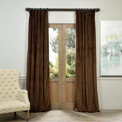 Blackout Signature Java Brown Blackout Velvet Curtain - 50 in. W x 108 in. L (1 Panel)