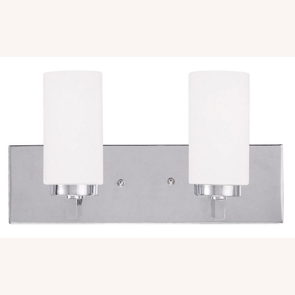 Livex Lighting West 2-Light Chrome Bath Light