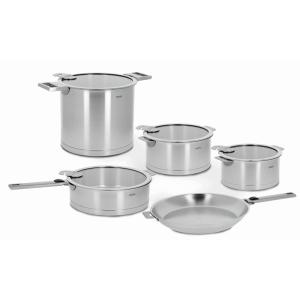 Cristel Strate 13-Piece Stainless Cookware Set with Lids by Cristel