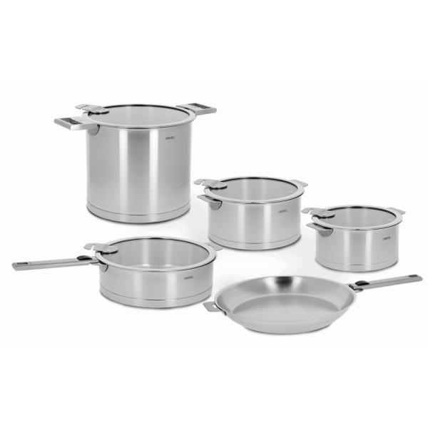 Strate 13-Piece Stainless Cookware Set with Lids