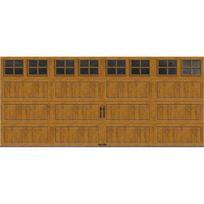 Gallery Collection 16 ft. x 7 ft. 18.4 R-Value Intellicore Insulated Ultra-Grain Medium Garage Door with SQ22 Window