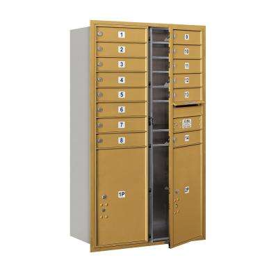 3700 Horizontal Series 14-Compartment with 2-Parcel Locker Recessed Mount Mailbox