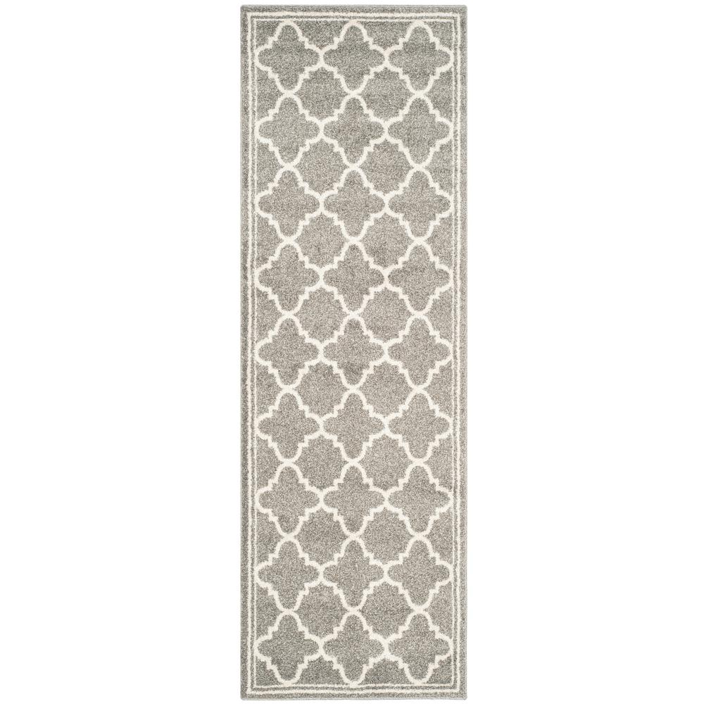 Safavieh Amherst Dark Gray Beige 2 Ft 3 In X 15 Indoor Outdoor Runner Area Rug Amt422r 215 The Home Depot