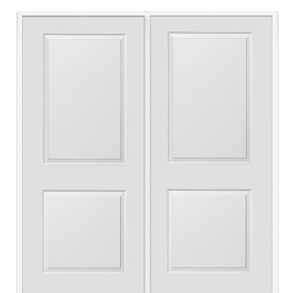 Masonite interior double prehung doors - Primed Composite Cambridge Smooth Surface Solid Core Interior Double
