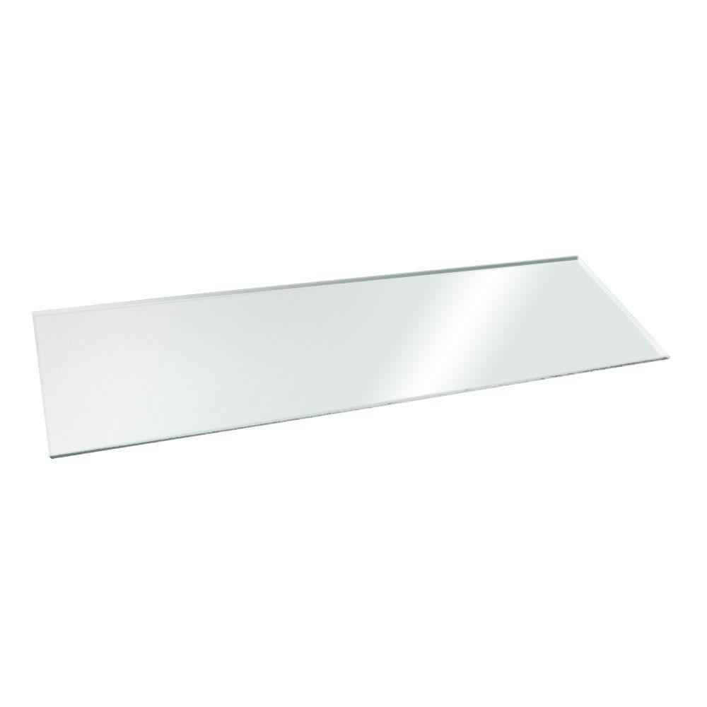 Home Decorators Collection 8 in. x 36 in. Clear Glacier Glass Shelf