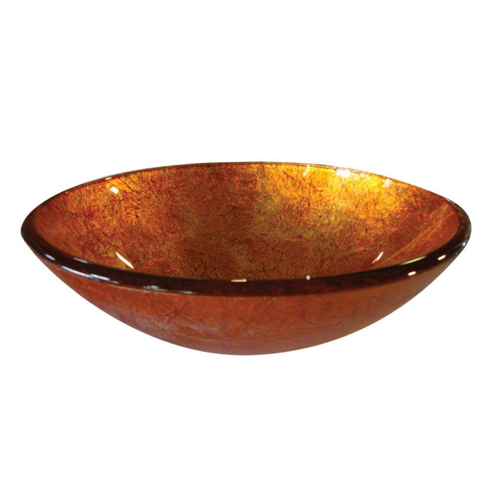 Yosemite Home Decor Fused Warm Glass Vessel Sink In Sunrise
