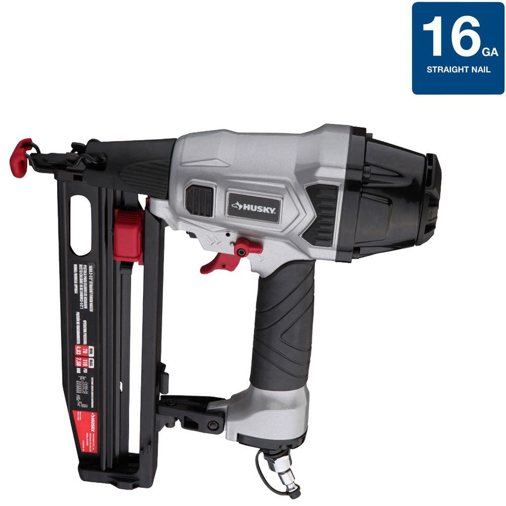 Husky Reconditioned DP Series 16-Gauge Class A Straight Finish Nailer-DISCONTINUED