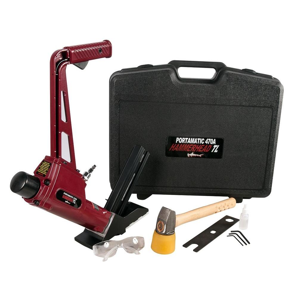 Porta-Nails Pneumatic 16-Gauge Floor Nailer for T and L Cleat Nails