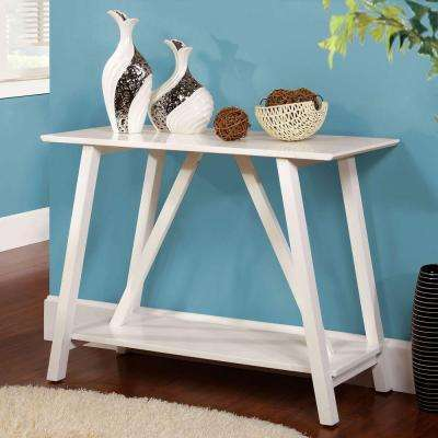 Elgg White Console Table
