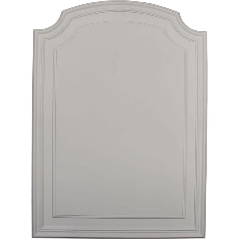 Ekena Millwork 5/8 in  x 21-5/8 in  x 29-3/4 in  Polyurethane Legacy Arch  Top Wall/Door Panel
