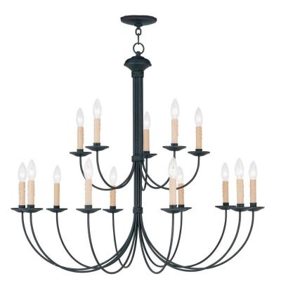 Providence 15-Light Black Incandescent Ceiling Chandelier