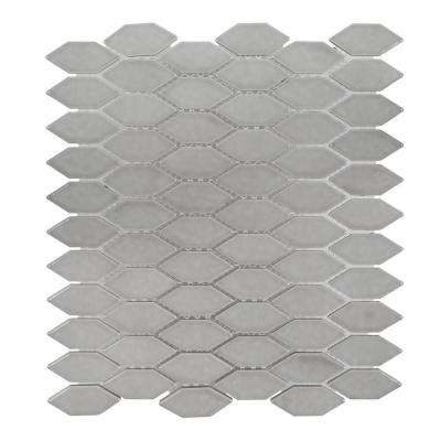 Dovetail Grey 10.75 in. x 12.125 in. x 8mm Ceramic Mosaic Tile