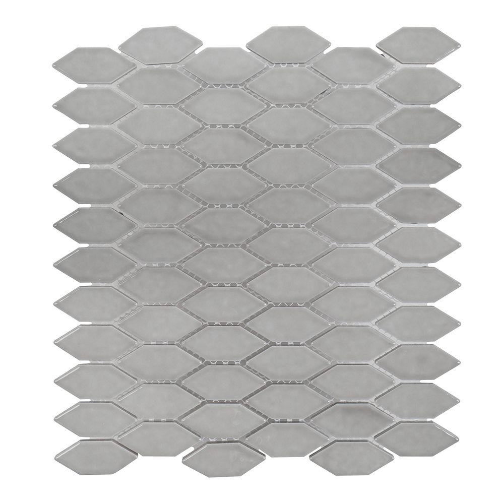 Dovetail Grey 10.75 in. x 12.125 in. x 8mm Ceramic Mosaic