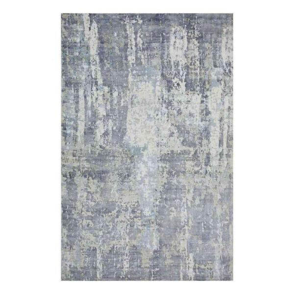 Hagues Contemporary Cream 5 ft. x 8 ft. Loom Knotted Area Rug