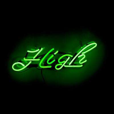 Oliver Gal 'High' Plug-in Neon Lighted Sign