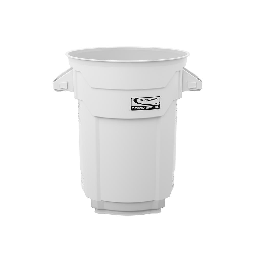 20 Gal. White Commercial Trash Can