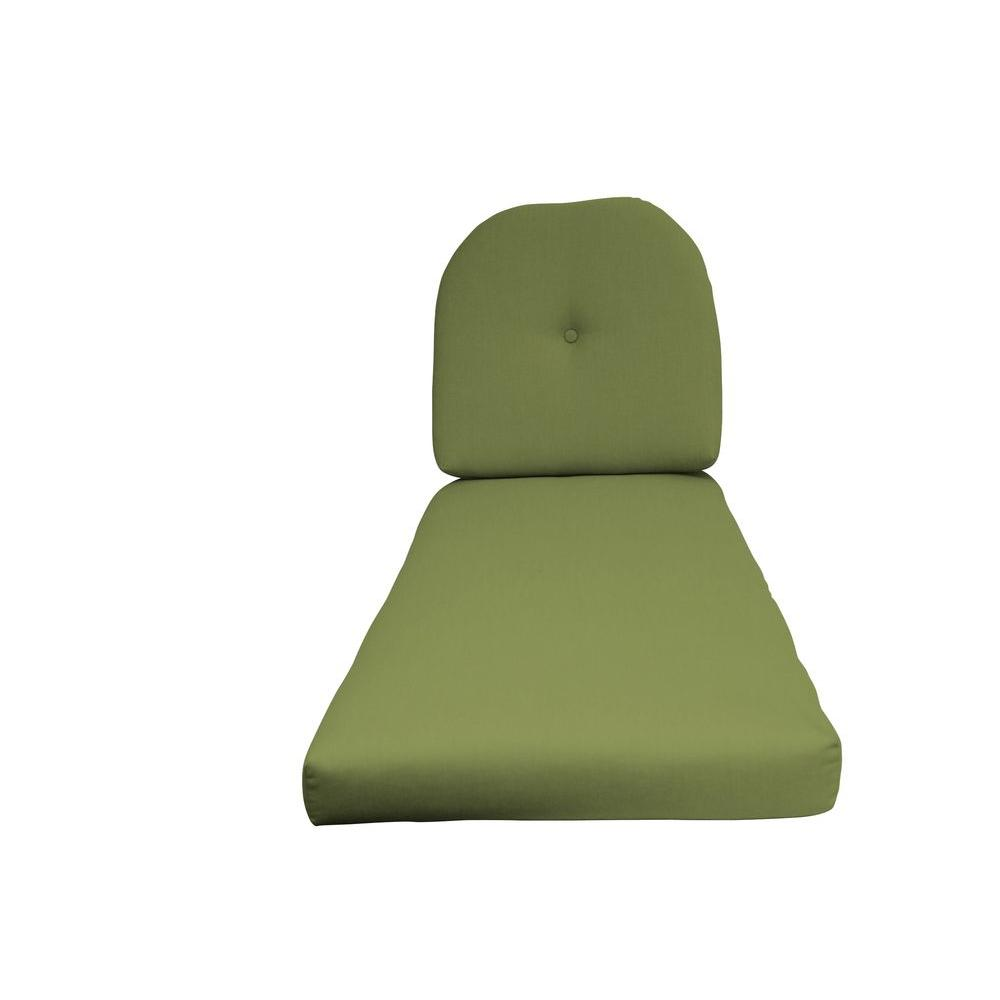 Paradise cushions sunbrella kiwi 2 piece outdoor chaise for Chaise cushions sunbrella