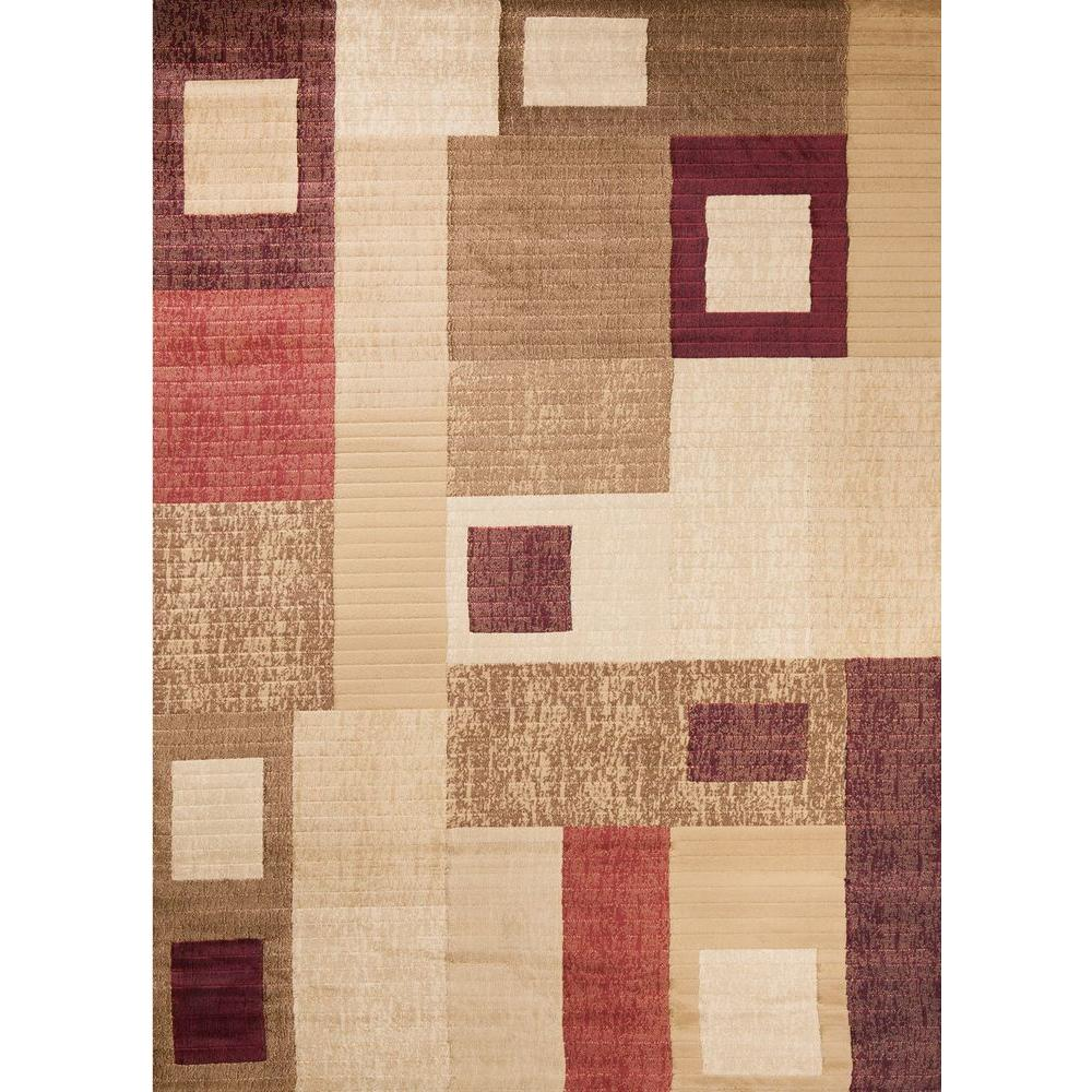 Soho Rectangles Tonel 6 ft. 7 in. x 9 ft. 6 in. Area Rug