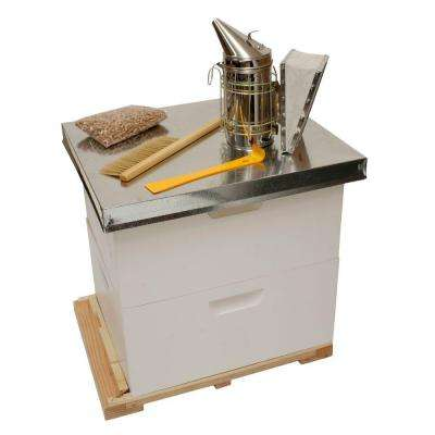 20.5 in. x 26 in. x 24 in. Backyard Beekeeping Kit with 2 Deep Supers and Tools
