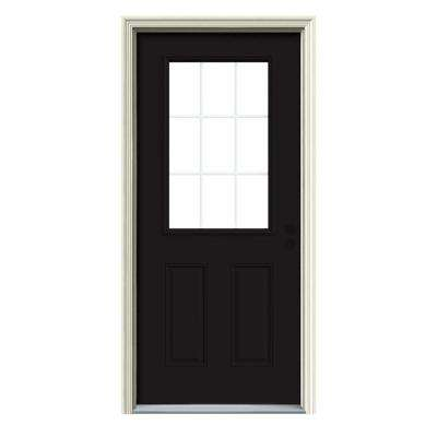 9 Lite Painted with White Interior Premium Steel Prehung Front Door with Brickmould  sc 1 st  The Home Depot & 30 x 80 - Steel Doors - Front Doors - The Home Depot pezcame.com