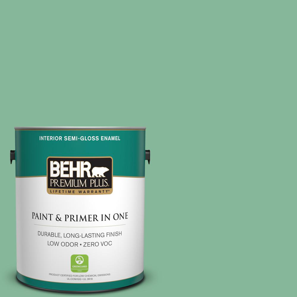 1-gal. #470D-4 Garden View Zero VOC Semi-Gloss Enamel Interior Paint