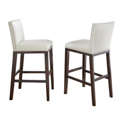 Tiffany Counter Height White Chairs (Set of 2)