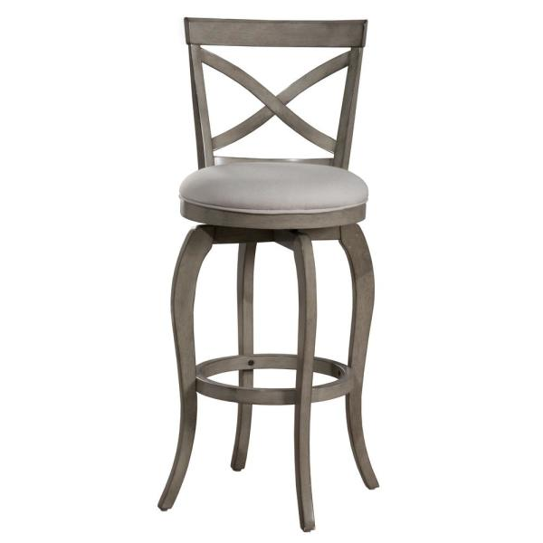 Hillsdale Furniture Ellendale 25.25 in. Aged Gray Counter Stool 5304-827