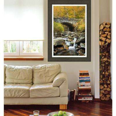 43.75 in. x 31.75 in. 'Bridge to the Smokies' by Jason Clemmons Fine Art Canvas Framed Print Wall Art