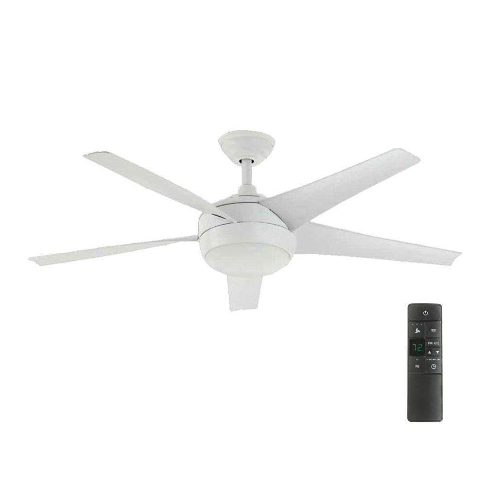 Home decorators collection windward iv 52 in led indoor matte white home decorators collection windward iv 52 in led indoor matte white ceiling fan with light aloadofball Image collections