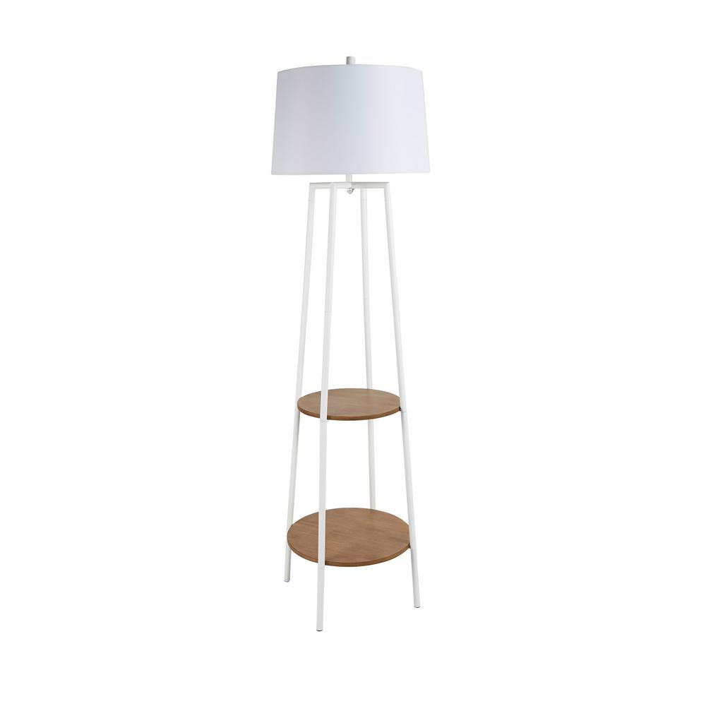 White Floor Lamp With Shelves Write A Review