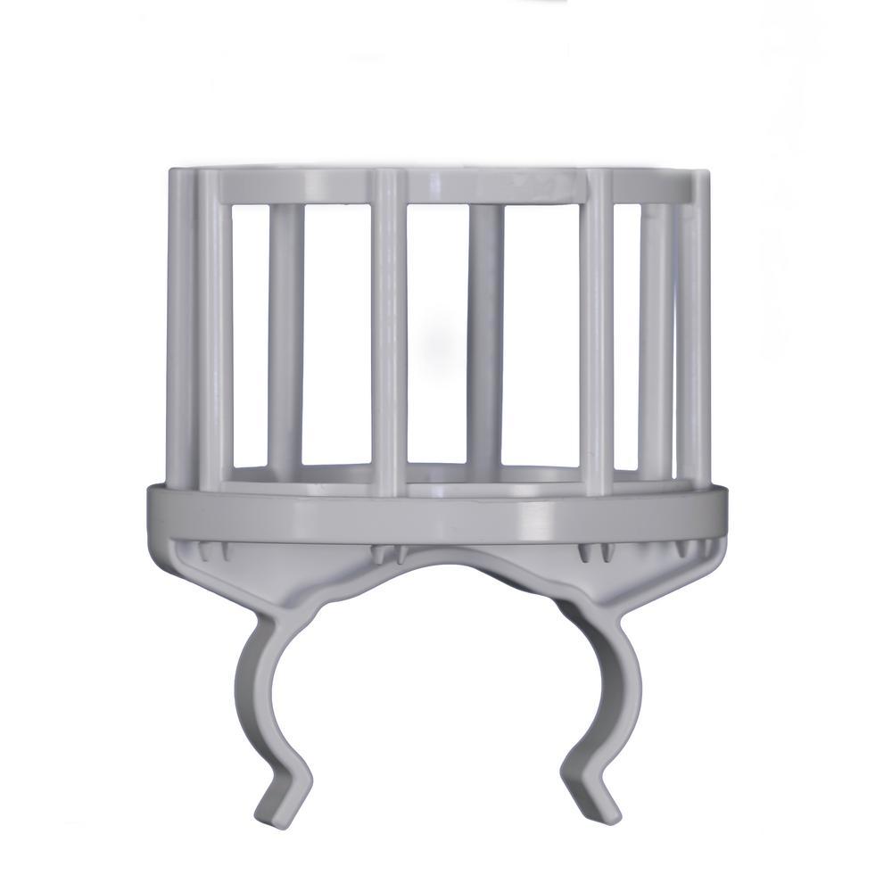 4.25 in. x 5 in. White Plastic Deck Railing Beverage Holder