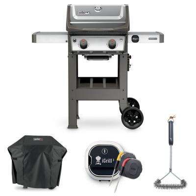 Spirit II S-210 Liquid Propane Grill Combo with Grill Brush, Cover, and iGrill 3 Thermometer