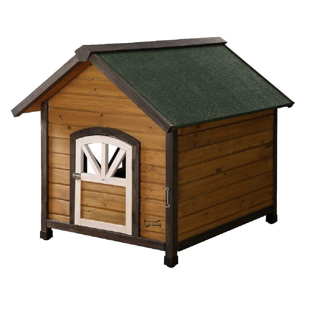 Pet Squeak 3.2 ft. L x 2.6 ft. W x 2.8 ft. H Large Doggy Den Dog House