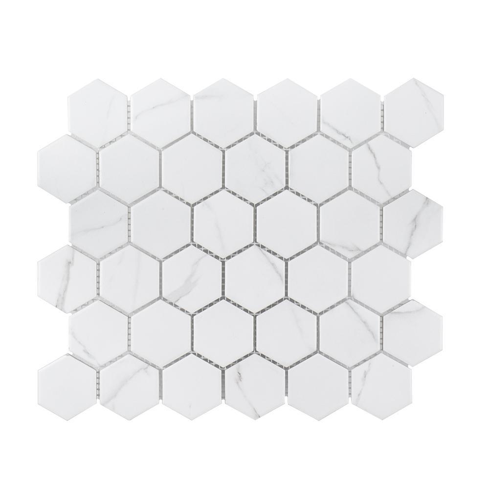 Whisper Valley 11 in. x 12.687 in. x 6 mm Porcelain Mosaic Tile (0.969 sq. ft. / each)