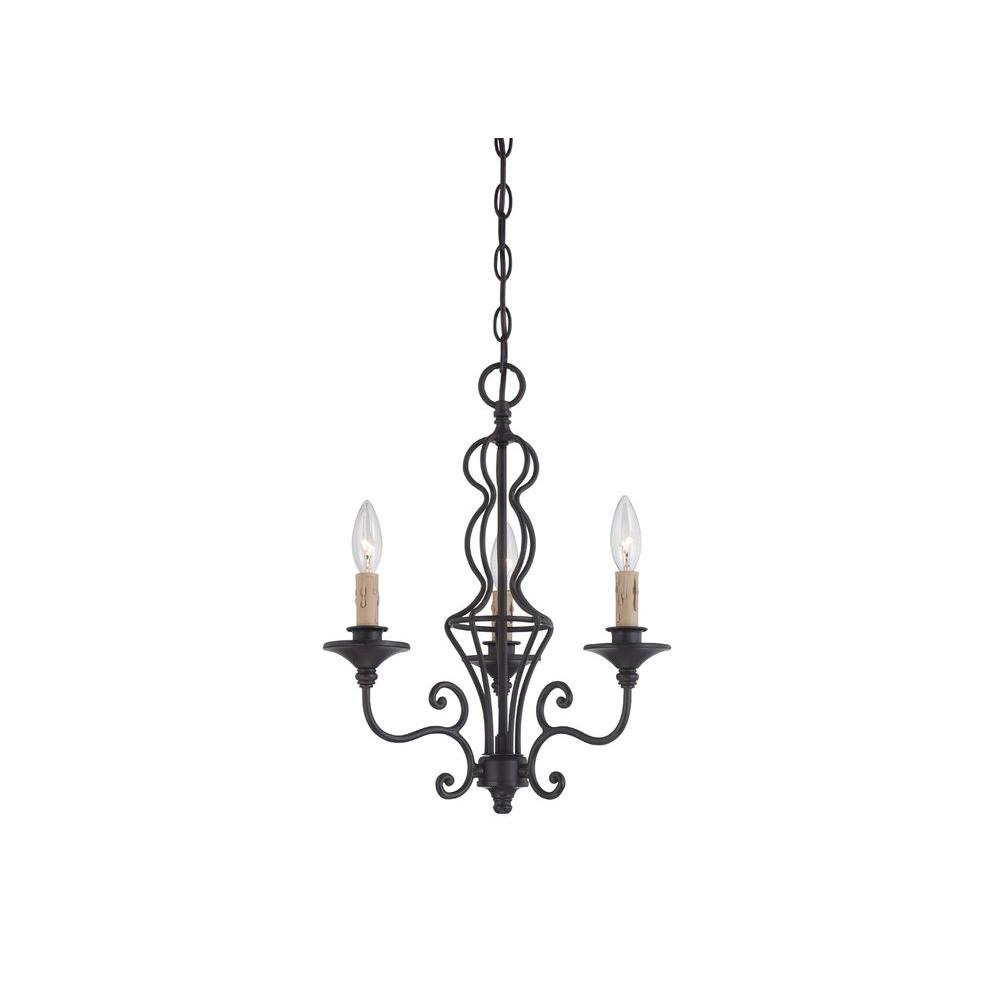 designers fountain tangier 3-light natural iron chandelier-85583-ni