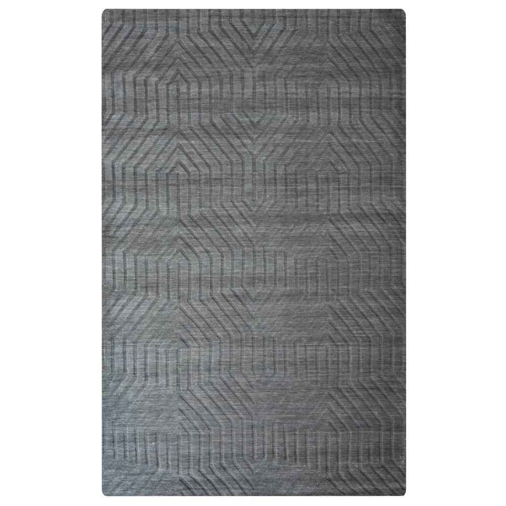 Technique Dark Grey Solid 5 ft. x 8 ft. Area Rug