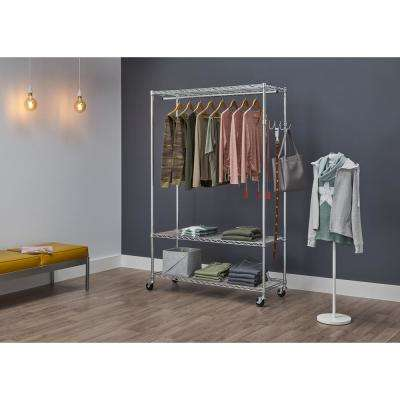 48 In X 75 5 3 Tier Ecostorage Rolling Garment Rack